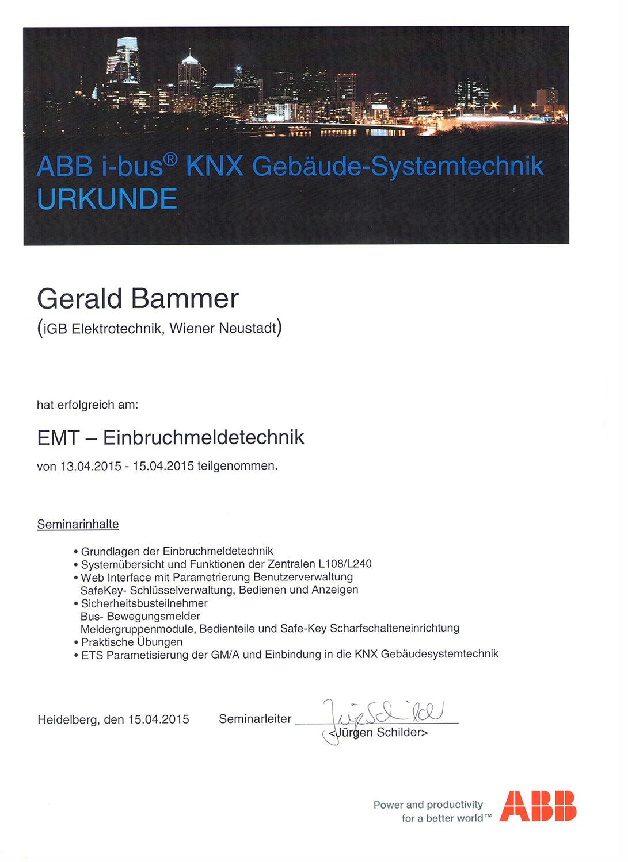 iGB Elektrotechnik-Zertifikat-KNX