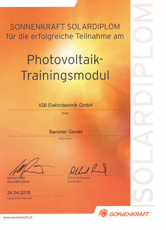 iGB Elektrotechnik-Zertifikat-Sonnenkraft
