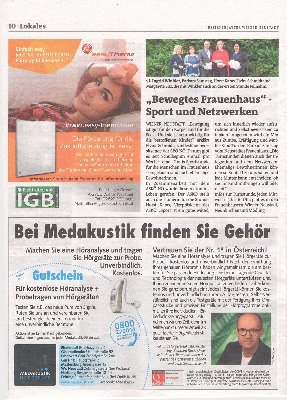iGB Elektrotechnik-Bezirksblatt Inserat